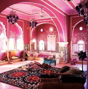 pink middle easter bedroom